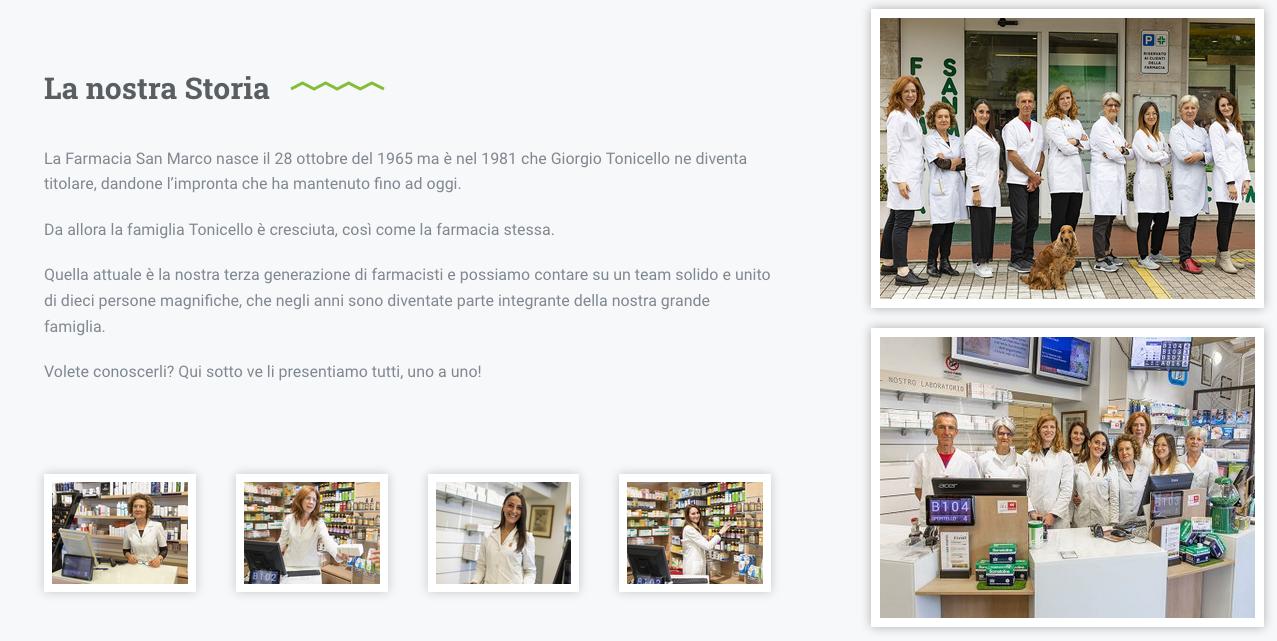 grafica sito web farmacia san marco by gingernlemon